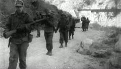 US Soldiers Advance Korean War Vintage Military Frontline Film Footage 4712 Stock Footage