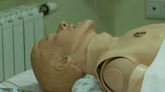 Stock Video Footage of Medical simulation Center. Interactive mannequins.