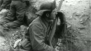 Stock Video Footage of GI Foxhole Korean War (Vintage Military News Film Footage) 4715