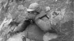 Radio OPERATOR Korean War Vintage Military News Film Footage 4716 - stock footage