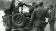Stock Video Footage of AMERICAN SOLDIERS Jeep Gun Korean War Vintage Military Film Movie Footage 4718