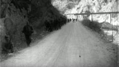 Troops Advance Korean War (Vintage Military News Film Footage) 4719 - stock footage