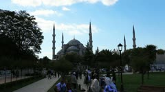 Blue Mosque Skyline Stock Footage