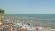 Timelapse of the tide coming in at Lameroo Beach, NT, Australia Stock Footage
