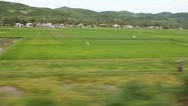 Scene from moving train Stock Footage