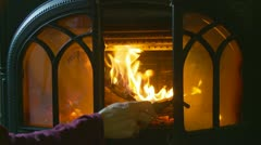 Cottage fire (5) Stock Footage