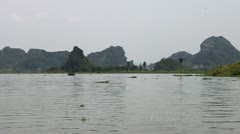 Vietnam limestone landscape Stock Footage