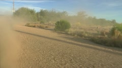 Car Wheels Dirt Road Stock Footage