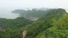 Panorama of islands Stock Footage