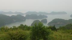 Islands around Cat Ba island Stock Footage