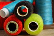 Sewing spools Stock Photos
