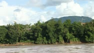 Mekong river, Luang Prabang Stock Footage