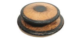 two old historical atheletics discs - stock photo