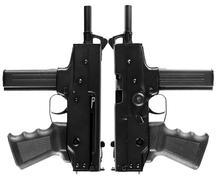 Two automatic pistols Stock Photos