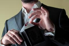 gambler man - stock photo