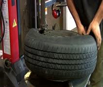 Tire on Rim - stock footage