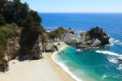 Pacific coastline in california  - highway one Stock Photos