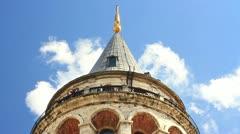 Balcony of Galata Tower Stock Footage
