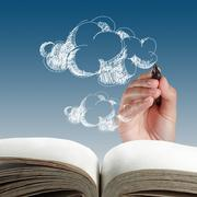 Stock Illustration of hand drawing cloud network