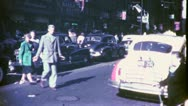Stock Video Footage of NEW YORK CITY Lower East Side 1940s (Vintage Retro Film Home Movie) 4764