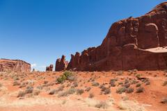Stock Photo of arches national park in utah