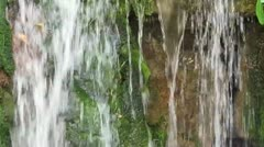 Close up of a small waterfall with natural sound. Stock Footage