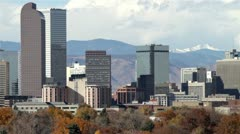 Downtown Denver Zoom Out Stock Footage