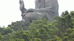 The Big Buddha and Po Lin Monastery Stock Footage