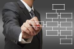 Stock Illustration of blank business diagram