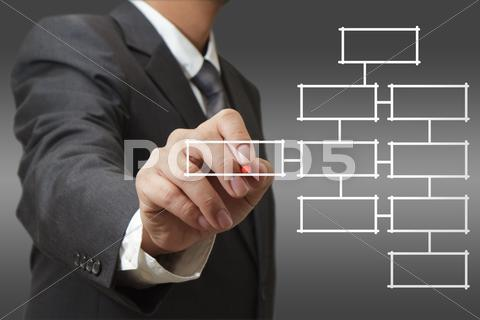 Stock Illustration of blank business diagram