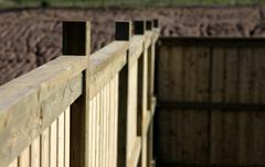 close-up of a new fence - stock photo