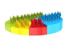 Population - stock illustration