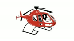 Stock Video Footage of Helicopter Chopper Retro