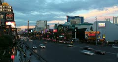 4K Las Vegas Timelapse Sunset Ultra-HD Stock Footage