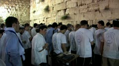 Prayers at the Kotel Stock Footage