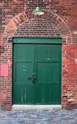 Old warehouse door Stock Photos
