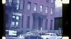 Soup Kitchen Breadline THE BOWERY NYC 1930s (Vintage Film Home Movie) 4734 Stock Footage