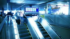 Airport Escalator Stock Footage