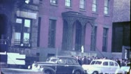 Soup Kitchen Breadline THE BOWERY NYC 1930s (Vintage Film Home Movie) 4735  Stock Footage