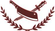 Butcher's knife and blade sharpener Stock Illustration