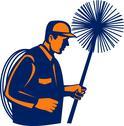 Chimney sweeper or cleaner Stock Illustration
