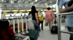 Airport Foot Traffic Stock Footage
