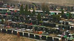 Cemetery Kiev 3 Stock Footage