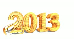 New 2013 year in 3d design Stock Footage