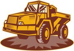 mining dump truck - stock illustration