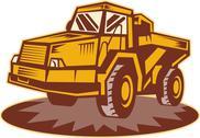 Mining dump truck Stock Illustration