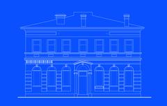 Heritage mansion building Stock Illustration