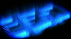 Blue glow forming a square Stock Footage