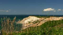 Clay cliffs Martha's Vineyard Stock Footage