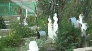 Orthodox Cemetery, Cross Stock Footage